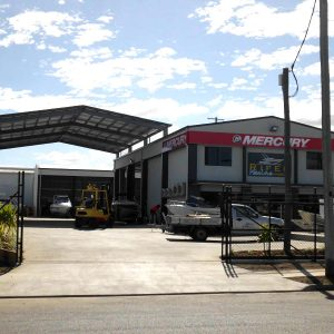 Olive and White Industrial Building Construction Rockhampton